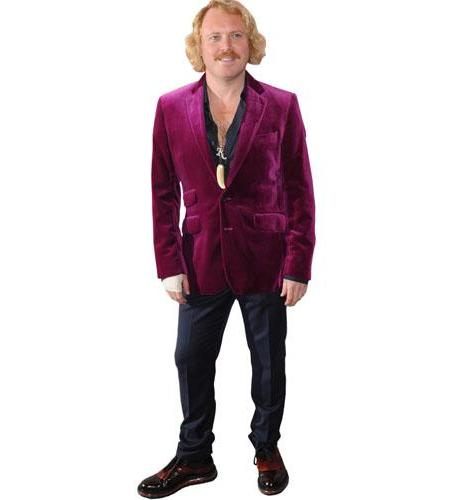 A Lifesize Cardboard Cutout of Keith Lemon wearing a purple suit