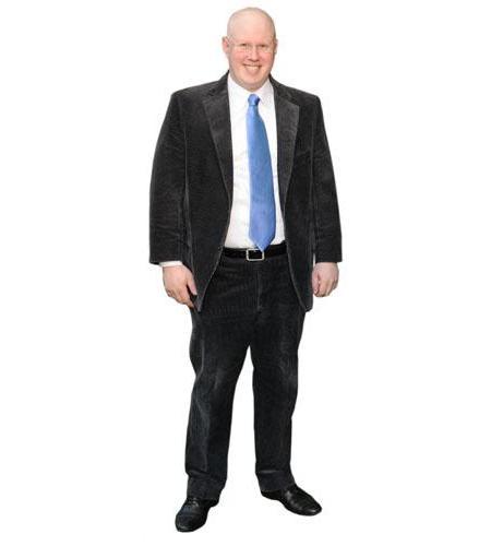 A Lifesize Cardboard Cutout of Matt Lucas wearing a tie