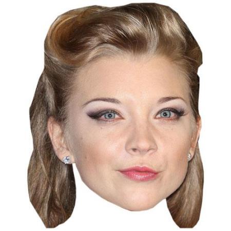 A Cardboard Celebrity Big Head of Natalie Dormer