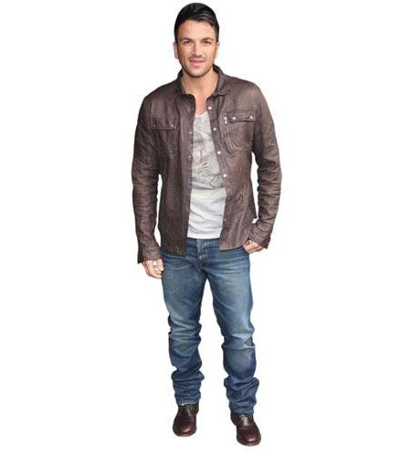 Peter Andre Brown Jacket Cardboard Cutout