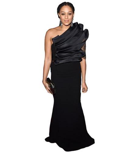 A Lifesize Cardboard Cutout of Tia Mowry wearing black