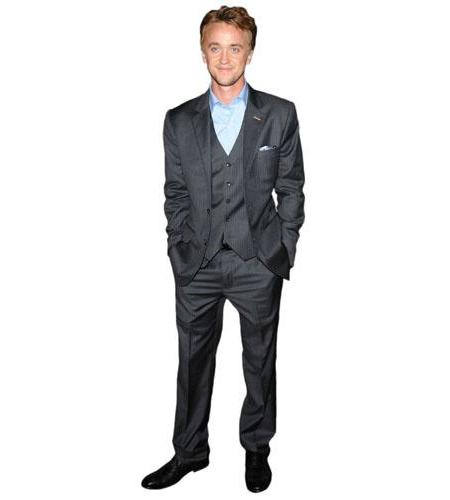 A Lifesize Cardboard Cutout of Tom Felton wearing a suit
