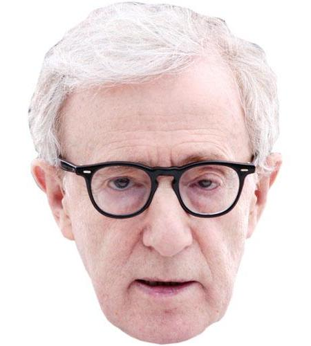 A Cardboard Celebrity Big Head of Woody Allen