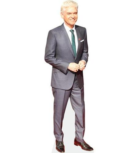 A Lifesize Cardboard Cutout of Phillip Schofield wearing a suit