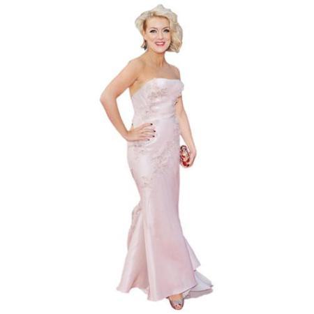 A Lifesize Cardboard Cutout of Sheridan Smith wearing a gown