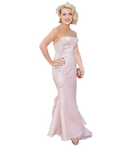 A Lifesize Cardboard Cutout of Sheridan Smith wearing a gown