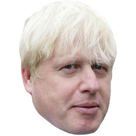A Cardboard Celebrity Big Head of Boris Johnson