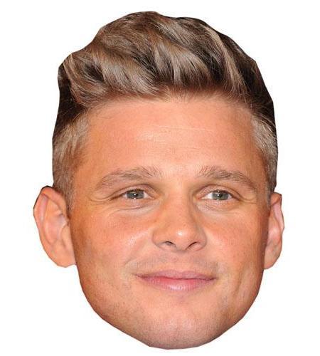 A Cardboard Celebrity Big Head of Jeff Brazier