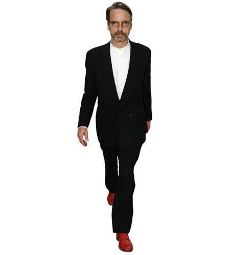 A Lifesize Cardboard Cutout of Jeremy Irons wearing red shoes
