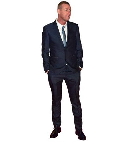 A Lifesize Cardboard Cutout of Christopher Maloney wearing a suit