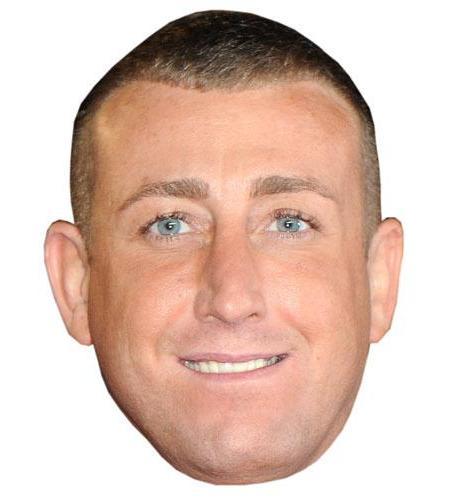 A Cardboard Celebrity Big Head of Christopher Maloney