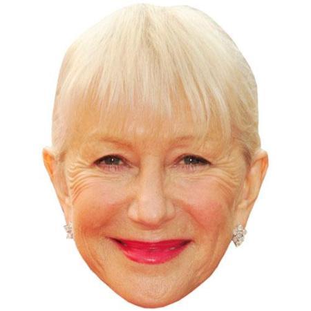 A Cardboard Celebrity Big Head of Helen Mirren