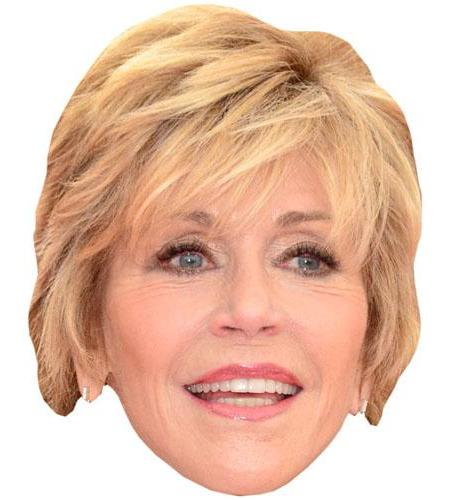 A Cardboard Celebrity Big Head of Jane Fonda