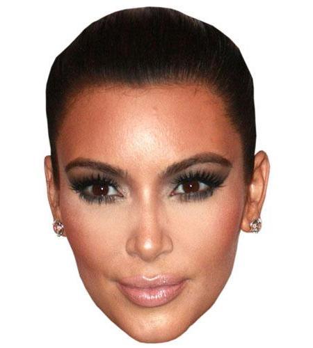 A Cardboard Celebrity Big Head of Kim Kardashian