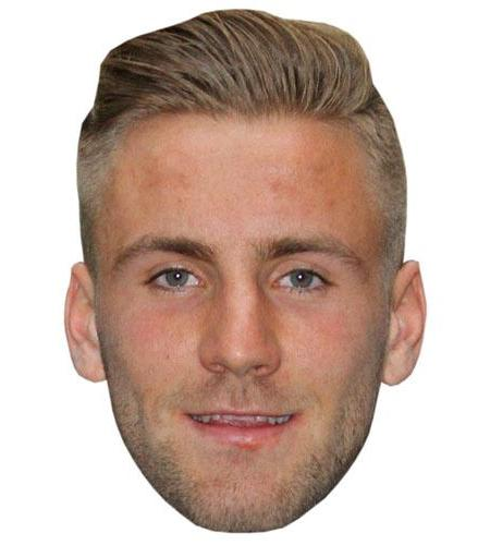 A Cardboard Celebrity Big Head of Luke Shaw