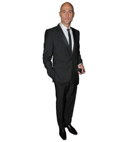 A Lifesize Cardboard Cutout of Mark Strong wearing a suit