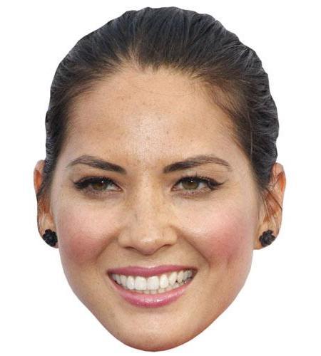 A Cardboard Celebrity Big Head of Olivia Munn