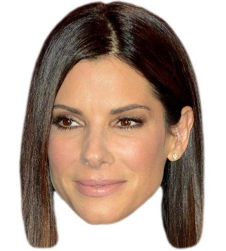 A Cardboard Celebrity Big Head of Sandra Bullock