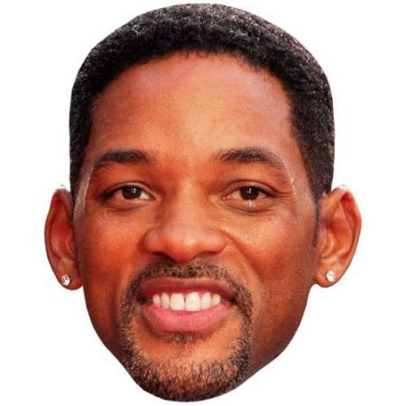A Cardboard Celebrity Big Head of Will Smith