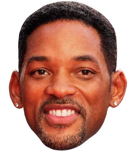 A Cardboard Celebrity Big Head of Will Smith