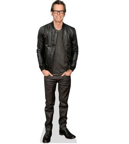 Cardboard cutout of Kevin Bacon