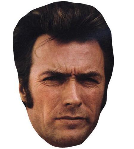 A Cardboard Celebrity Big Head of Clint Eastwood