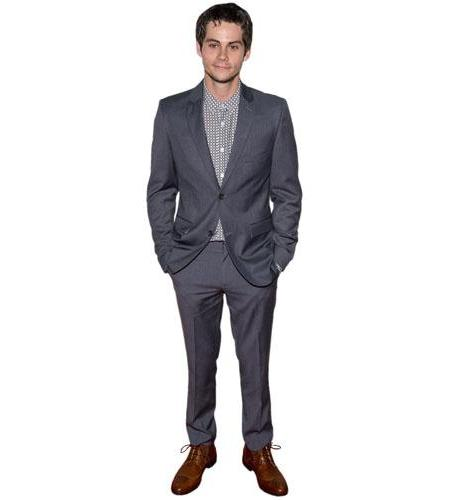 A Lifesize Cardboard Cutout of Dylan O'Brien wearing a suit
