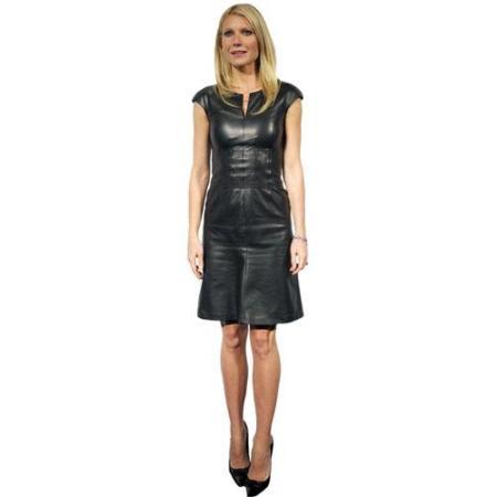 A Lifesize Cardboard Cutout of Gwyneth Paltrow wearing a black dress