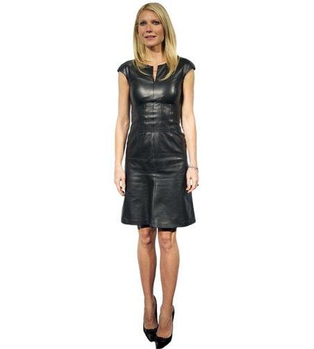 A Lifesize Cardboard Cutout of Gwyneth Paltrow wearing a black dress