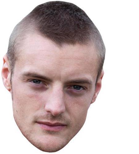 A Cardboard Celebrity Big Head of Jamie Vardy