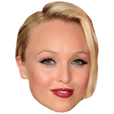 A Cardboard Celebrity Big Head of Jorgie Porter