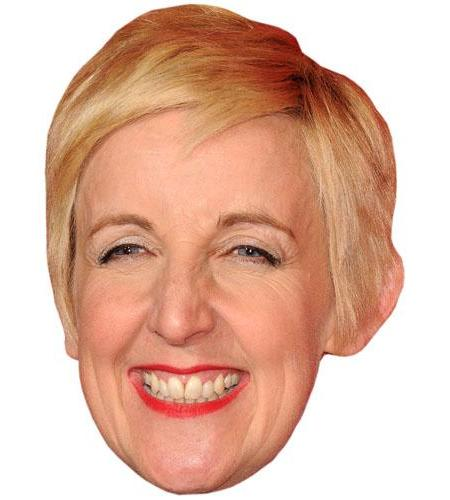 A Cardboard Celebrity Big Head of Julie Hesmondhalgh