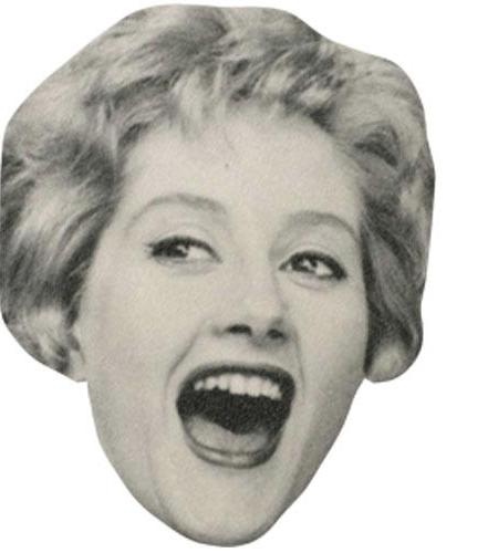 A Cardboard Celebrity Big Head of Liz Fraser