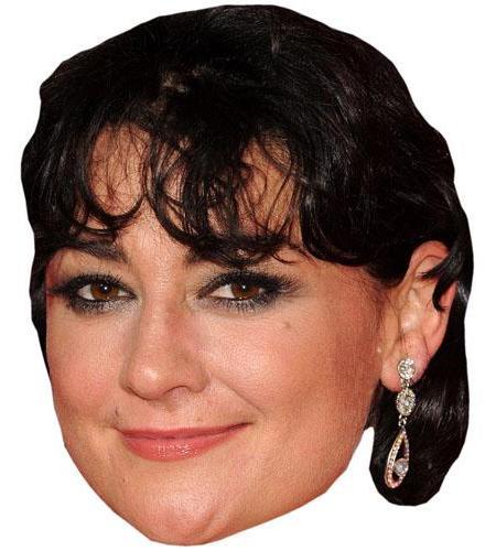 A Cardboard Celebrity Mask of Natalie J Robb