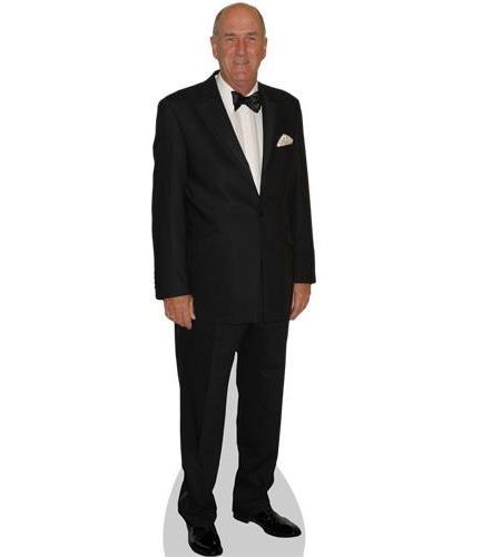 A Lifesize Cardboard Cutout of Russ Abbot wearing a bowtie