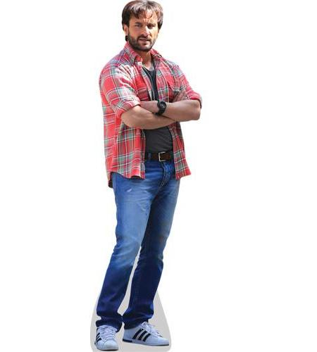 A Lifesize Cardboard Cutout of Saif Ali Khan wearing hawain shirt