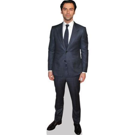 A Lifesize Cardboard Cutout of Aidan Turner wearing a suit