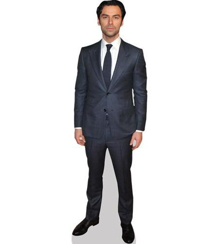A Lifesize Cardboard Cutout of Aidan Turner wearing a suit