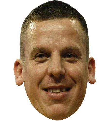 A Cardboard Celebrity Big Head of Dave Chisnall