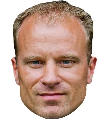 A Cardboard Celebrity Big Head of Dennis Bergkamp