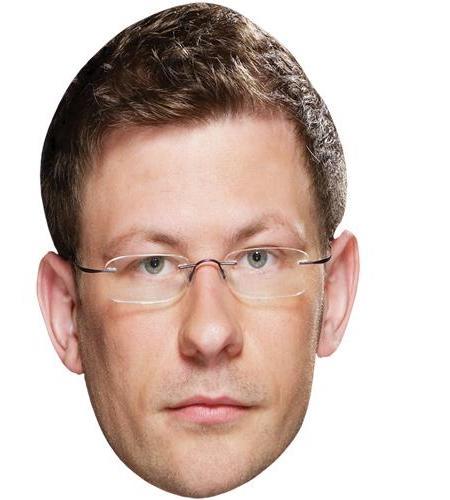 A Cardboard Celebrity Big Head of James Wade