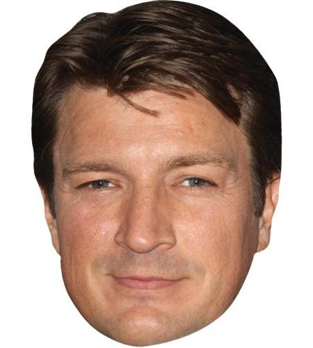 A Cardboard Celebrity Big Head of Nathan Fillion