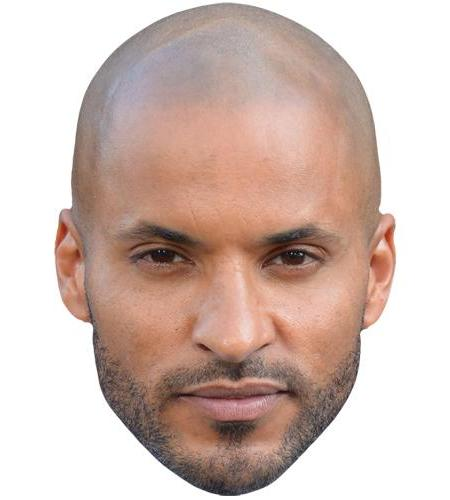 A Cardboard Celebrity Big Head of Ricky Whittle