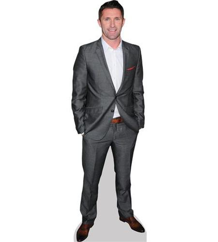 A Lifesize Cardboard Cutout of Robbie Keane wearing a suit