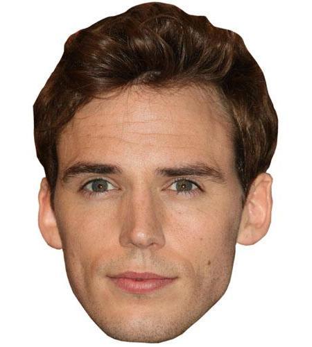 A Cardboard Celebrity Big Head of Sam Claflin