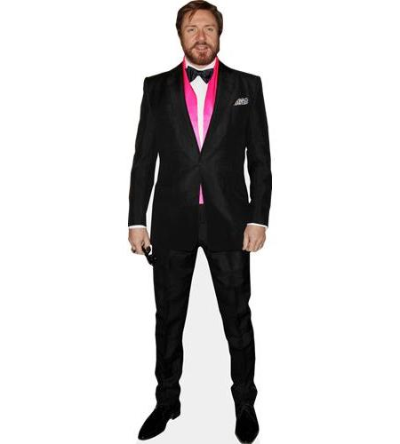 A Lifesize Cardboard Cutout of Simon Le Bon wearing a dinner suit