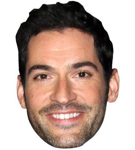 A Cardboard Celebrity Big Head of Tom Ellis