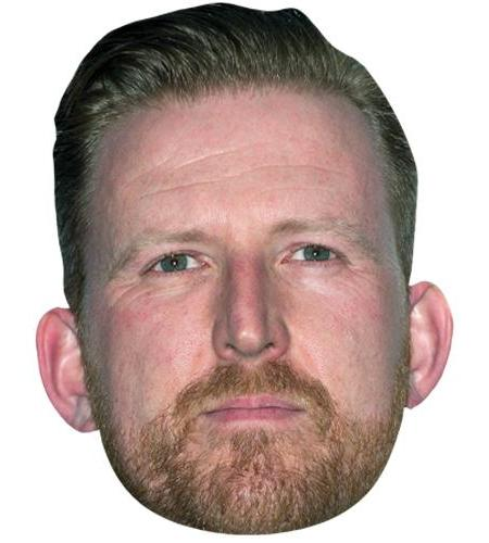 A Cardboard Celebrity Big Head of Tom Goodman Hill