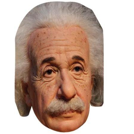 A Cardboard Celebrity Big Head of Albert Einstein
