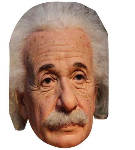 A Cardboard Celebrity Mask of Albert Einstein